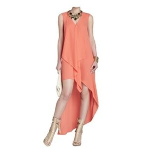 BCBGMAXAZRIA Tara High-Low Maxi Dress - S